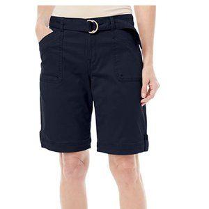 NEW Gloria Vanderbilt Sierra Stretch Twill Shorts